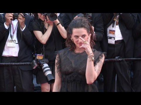 Asia Argento on the red carpet for the Opening Ceremony of the 70th Cannes Film Festival