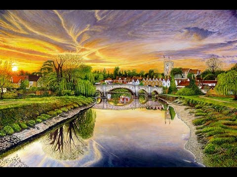 Thumbnail of Aylesford Sunset Oil Painting