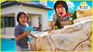 Blaster Toys Ryan vs Daddy Payback Time!!!