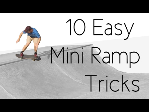 10 Easy Mini Ramp Tricks ft. Skateboard Bruh