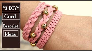 3 DIY Bracelets|How To Make Macrame Bracelets|Handmade Jewellery Ideas |Thread Bracelet|Creation&you