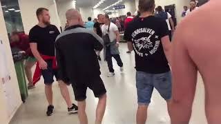 Столкновение фанатов «Спартака» и ОМОНа на «Зенит Арене»