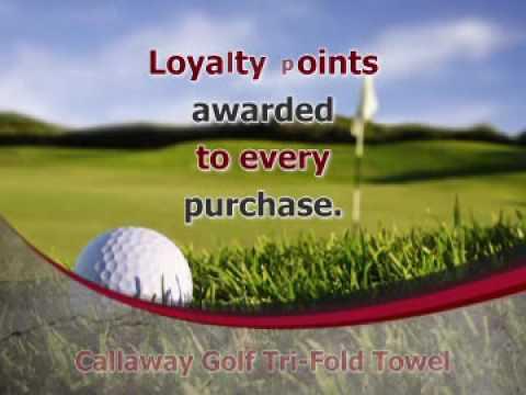 Callaway Golf Tri-Fold Towel