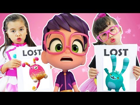 Abby Hatcher vs Butterbeans Cafe   Fuzzly Bozzly is lost! Friends search   Video for kids