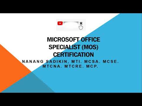 Microsoft Office Specialist Word Excel Powerpoint Outlook Access ...