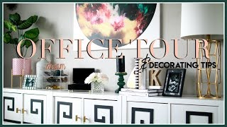 MY SOPHISTICATED-CHIC OFFICE TOUR & TIPS FOR DECORATING ANY ROOM ON A BUDGET!