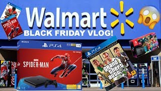 GOING BLACK FRIDAY SHOPPING AT WALMART 2018!! [GOT A PS4 AND SOME GAMES!]