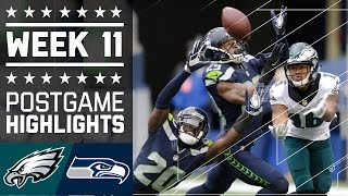 Eagles vs. Seahawks | NFL Week 11 Game Highlights