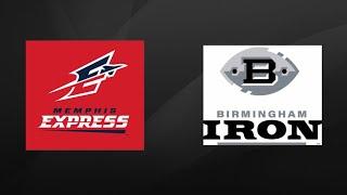 Memphis Express Vs Birmingham Iron   AAF Week 1 Highlights