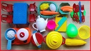 Đồ chơi nấu ăn bé gái 35 món có bếp gas, nồi chảo, bàn ghế, thức ăn... Cooking toys kids (Chim Xinh)