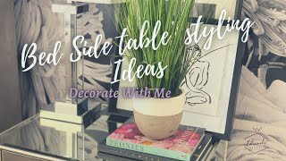 HOW TO STYLE A NIGHTSTAND/BEDSIDE TABLE  NIGHTSTAND DECOR IDEAS  EXTREMELY MODEST