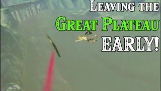 Leaving Great Plateau EARLY! ...and a horse in Zelda Breath of the Wild (Viewers Request)