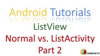 #75 Android ListActivity Part 2: Android Application Development Tutorial [HD 1080p]