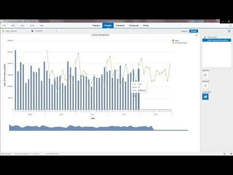 SAP Predictive Analytics – forecasting and supporting of decision making process