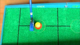 屋内グラウンド・ゴルフパークゴルフパットゲームスターの打ち方.wmv