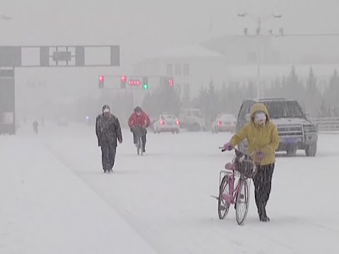 Heavy Snow Hits Large Swath of N China