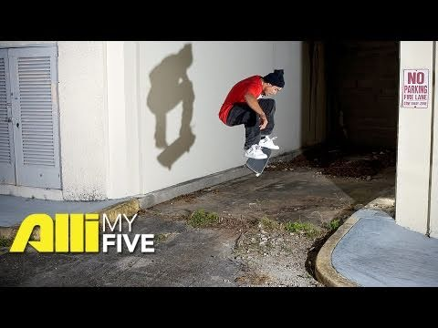 Alli Skate Videos - My Five: Manny Santiago - Interview + Skate Footage
