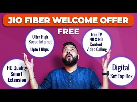 Jio Fiber Welcome Offer & Plans   Free 4k TV & Set Top Box   1GBPS Internet!!