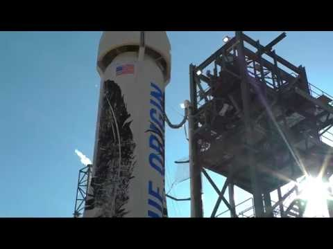 Blue Origin one chute out test highlights