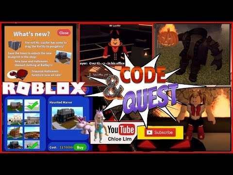 Roblox My Dollhouse Youtube Roblox Gameplay Rocitizens A New Code And How To Complete The Halloween Quest Loud Warning Steemit
