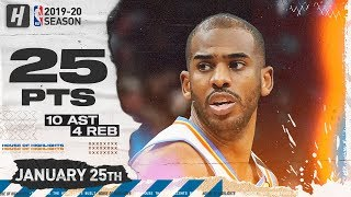 Chris Paul 25 Pts 10 Ast Full Highlights | Thunder vs Timberwolves | January 25, 2020