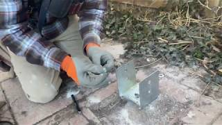 How to install Simpson abu66 post base
