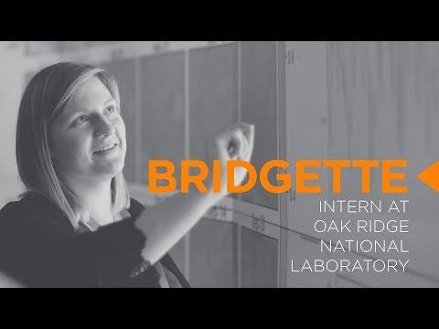 Undergraduate Research at ORNL - Bridgette Fritz