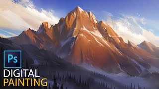 Winter Mountain: Complete Digital Painting Process