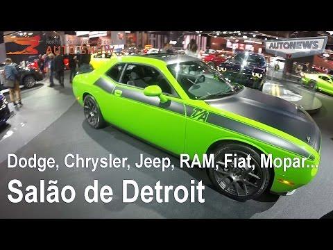 Salão de Detroit - estande Dodge, Chrysler, Jeep, RAM, Fiat, Mopar...