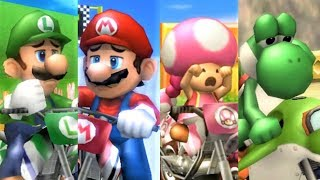 Mario Kart Wii - All Characters Losing Animations