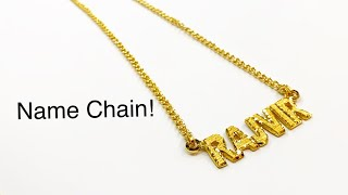 How a Custom Name Chain is Made   Make a Chain   Gold Jewelry Making   How it's Made   4K Video