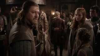 Game of Thrones S01E02 - Lord Stark kills Sansa's direwolf