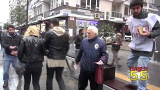 SAMSUN'DA 'REFERANDUMDA HAYIR' YÜRÜYÜŞÜ YAPIP BİLDİRİ DAĞITTILAR