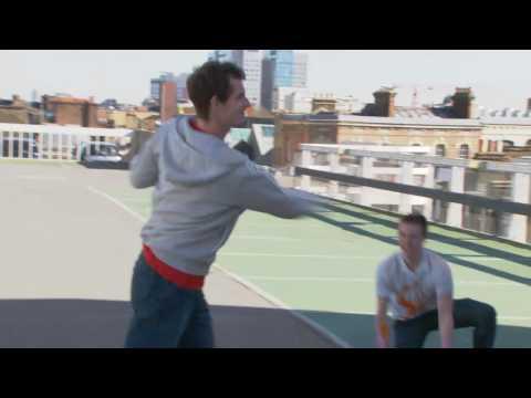 Tennis Street Magic in London Head Racket Ad