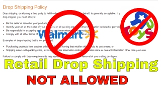 Amazon DropShipping Policy Clarified | Retail Dropship NOT ALLOWED | Walmart ToysRUS Etc NOT ALLOWED
