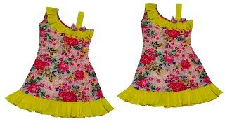 Simple Crafts Ideas | Designer One Handle Cape Baby Frock Cutting & Stitching Full Tutorial