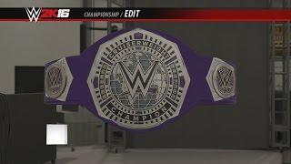 WWE Cruiserweight Championship 2016 WWE 2K16 Creations Custom Championship