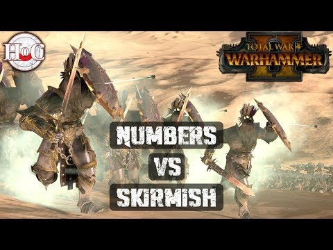 NUMBERS VS SKIRMISH - Total War Warhammer 2 - Online Battle 333