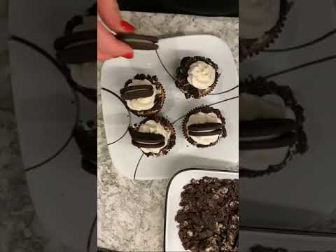 Cookies And Cream Cupcakes | #Shorts #cake #cooking #recipe #food #cookie #Youtubeshorts #Short