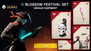Shadow Fight 3 Official BLOSSOM FESTIVAL Set Of Unique Equipment