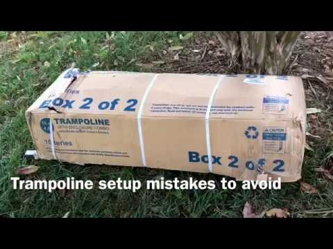 Trampoline (Skywalker 15 feet) setup/assembly mistakes to avoid (Lessons learned, a 3 - 4 hour job)