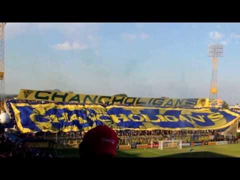 """""""Chancholigan's y su trapo. 09/03/14"""" Barra: Chancholigans • Club: Sportivo Luqueño"""