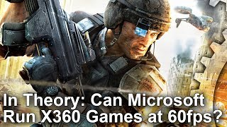 Xbox One *Forward* Compatibility? Ghost Recon Advanced Warfighter at 60fps + More!