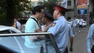 Задержание Ермека Нарымбаева 20 августа 2015г.