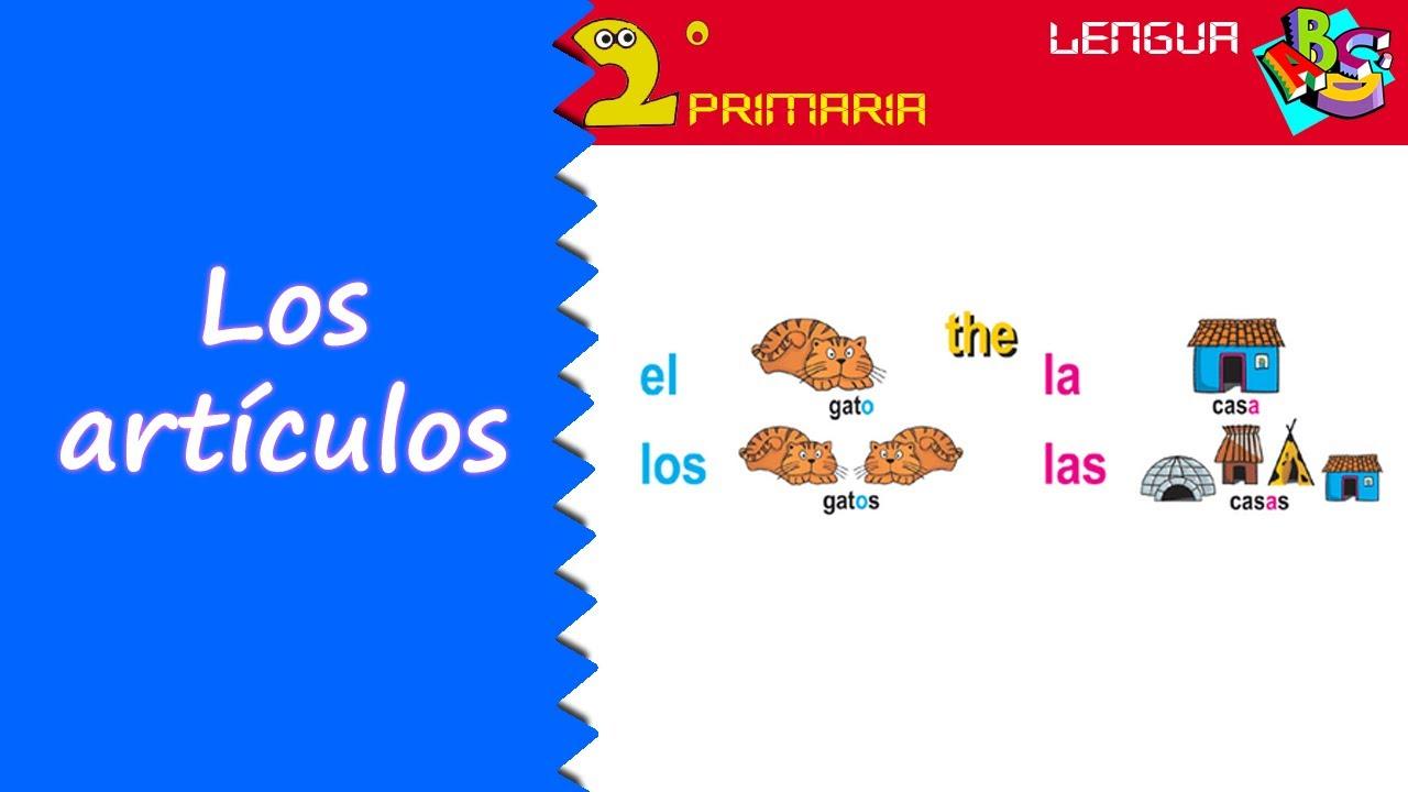 Lengua Castellana. 2º Primaria. Tema 5. Los artículos