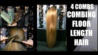 4 Combs Combing Floor Length Hair 2020