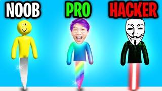 Can We Go NOOB vs PRO vs HACKER In MR. SLICE!? (*SUPER SATISFYING* APP GAME!)