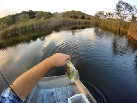Farm Pond Fishing Crappie (GoPro)