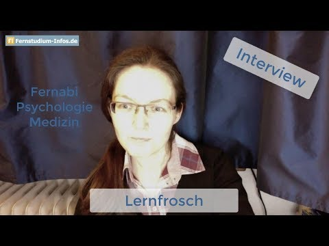 Lernfrosch: Fernabi - Medizin-Studium - Psychologie-Fernstudium an der FernUni Hagen | INTERVIEW