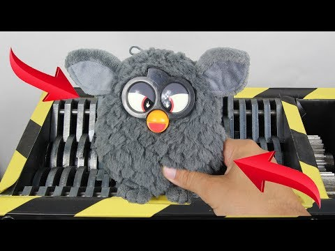 Experiment Shredding Furby Lego And Toys | The Crusher